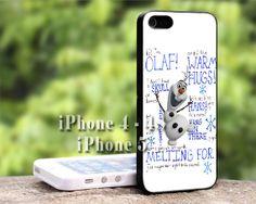 Disney Frozen Olaf Quote iPhone Case-iPhone 4/4s Case-iPhone 5/5s/5c Case-iPod 4/5 Case-Samsung Galaxy S3/S4 Case