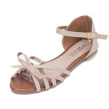 Hattie Women Gladiator Flat Sandles Summer Beach Sweet Sandals With Bow Apricot * Visit the image link more details. (This is an affiliate link) Shoes Flats Sandals, Cute Sandals, Espadrille Shoes, Ankle Strap Sandals, Leather Sandals, Shoe Boots, Flat Sandals, Flat Shoes, Fancy Shoes