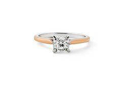 CW BESPOKE - Cushion cut engagement ring melbourne. #cushlawhitingrings #engagementrings