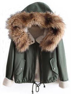 Sheinside� Women's Faux Fur Hooded Lo…