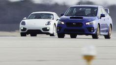 A really cool comparison of a Porsche versus an unlikely Subaru WRX STi!  #Subaru