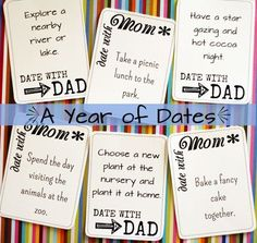 30 different parent-child date coupons!