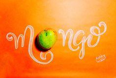 #mango #lettering #orange #calligraphy