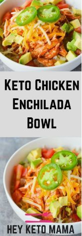 This Keto Chicken Enchilada Bowl is a low carb twist on a Mexican favorite! - This Keto Chicken Enchilada Bowl is a low carb twist on a Mexican favorite! It's SO easy to make, totally filling and ridiculously yummy! Healthy Recipes, Ketogenic Recipes, Mexican Food Recipes, Low Carb Recipes, Diet Recipes, Lunch Recipes, Ketogenic Diet, Recipies, Paleo Diet