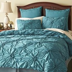 UPDATE: I bought this one. I know you were on the EDGE OF YOUR SEAT. [Savannah Bedding - Teal]
