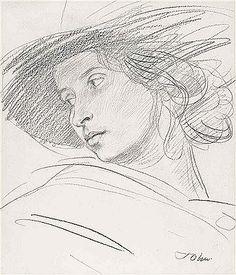 Dorelia in a Hat by Augustus John
