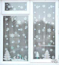 Новогодний декор окна. Пусть все к праздникам будет нарядным!