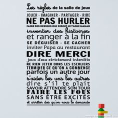 Sticker The rules of the games room – Stickers French quotes – Ambiance-sticker Source by ambiancesticker