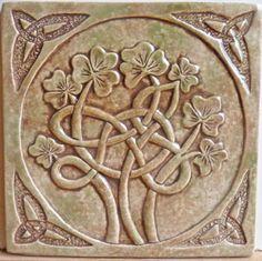 Celtic ceramic tile