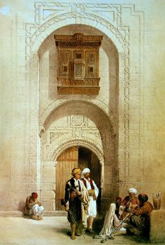 Entrance To A Private Mansion , Cairo 1838.