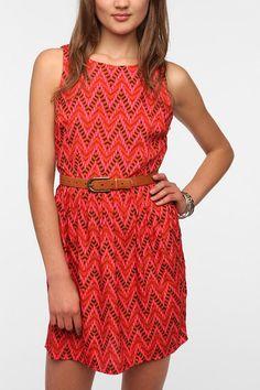 Jack By BB Dakota Silky Aiko Printed Dress  #UrbanOutfitters