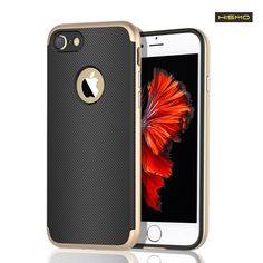 Hismo(TM) iPhone 7 Case 2 in 1 Combination Slim Metallic Frame Bumper with TPU Case Shockproof Protective Pattern Surface for iPhone 7(4.7 inch)(Gold) -- Awesome products selected by Anna Churchill