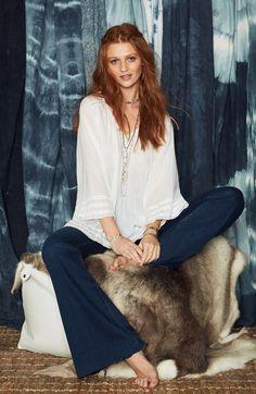 Calypso white blouse
