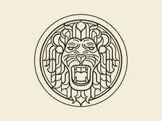 Lion by Pavlov Visuals on Dribbble Self Branding, Logo Branding, Branding Design, Circular Logo, Lion Design, Lion Logo, Logo Line, Print Layout, Lion Tattoo