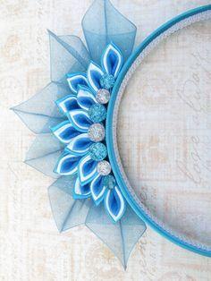 Diadema de Kanzashi de Tiara de la princesa de hielo                                                                                                                                                                                 Más