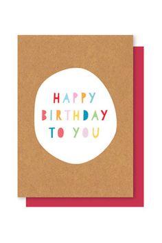 Elly Oak Card - Happy Birthday To You