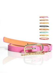 Pin Buckle Skinny Belt - Oasap High Street Fashion