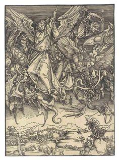 Albrecht Durer (1471-1528) Saint Michael Fighting The Dragon 1498 (390 x 283 mm)