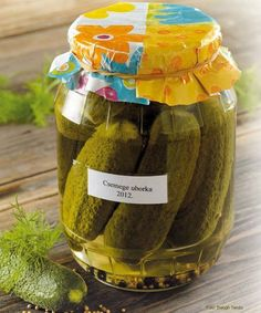 Pickling Cucumbers, Hungarian Recipes, Mason Jar Wine Glass, Ketchup, Pickles, Diy And Crafts, Food And Drink, Cooking Recipes, Cookies