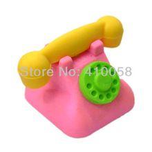 Freeshipping venta al por mayor nuevo borrador lindo modelo de teléfono oficina / borrador borrador de goma(China)