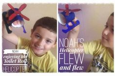 A Mish Mash of Arts and Crafts: Toilet Roll Helicopter