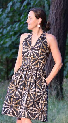 Digital Rose City Halter Dress Sewing Pattern   Shop   Oliver + S