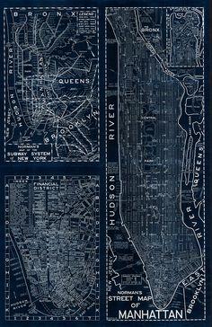 New York City Blackout Map - Majesty Maps and Prints