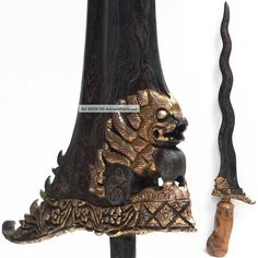 Old Bali Keris Singa Barong Magic Lion Kris Indonesia Lombok Sword Dagger Pacific Islands & Oceania photo