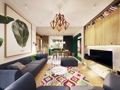 The Secret Garden on Behance Futuristisches Design, Deco Design, Interior Design, The Secret Garden, Appartement Design, Contemporary Apartment, Decoration Design, Open Floor, Gallery Wall