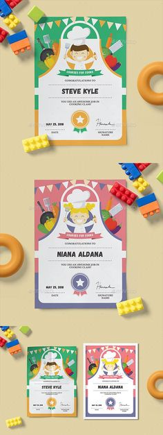 Cooking Class Certificate for $8  #stationery #StationeryDesign #certificate #template #StationeryTemplate #CertificateTemplate #graphicdesign #design #EnvatoMarket #graphics #BestDesignResources