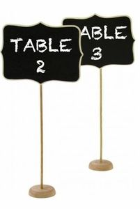 Chalkboard on Stand, Chalkboard for Parties and Events & Weddings, Mark Food Trays and Information