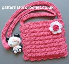 Free crochet pattern for little girls purse http://www.patternsforcrochet.co.uk/girls-purse-usa.html #patternsforcrochet