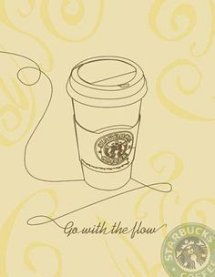 go with the flow, coffee style <3
