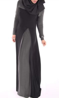 Two-toned abaya dress by ShopIslam on Etsy