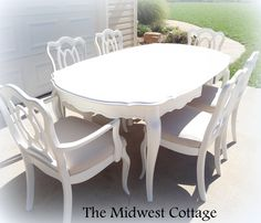 Custom painted dining table and chairs by themidwestcottage.com