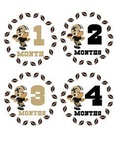 New Orleans Saints Football Onesie Stickers...