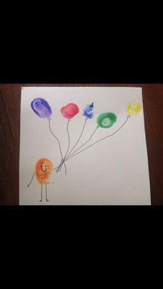 Fingerprint balloon picture/card