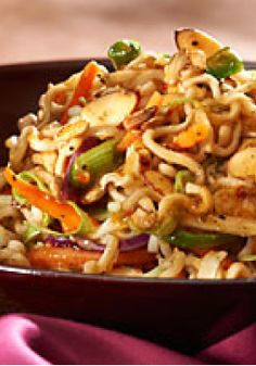 Crunchy Asian Salad – This sweet and tangy Asian-style salad gets its crunch from ramen noodles.