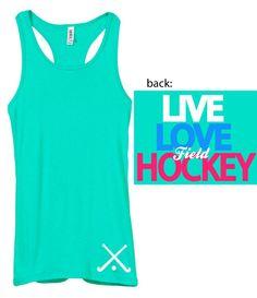 Junior's Live Love Field Hockey Tank - Field Hockey - Browse By Sport