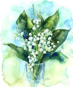 Lily of the Valley - I have a vase of these on my kitchen table. Such a delicate little flower with a powerful scent! WishfulThinking