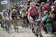 Cancellara making the winning move against Boonen