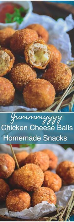 Chicken Cheese Balls is a delicious snack or appetizer which can be easily made at home. Here is a tried and tested recipe to make Chicken Cheese Balls.