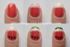 Watermelon Mani and other Cool and Easy Nail Art Ideas and Tutorials | #DIYready www.diyready.com