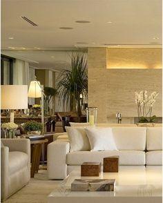 Tons claros e uma boa iluminação para trazer tranquilidade ao ambiente!