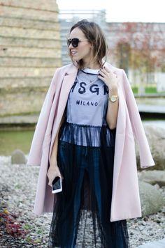 mesh dress over msgm tshirt