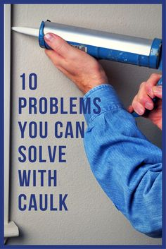 You can fix these 10 common household problems all with the right can of caulk. You can fix these 10 common household problems all with the right can of caulk. Do It Yourself Furniture, Do It Yourself Home, Home Improvement Projects, Home Projects, Home Renovation, Home Remodeling, Remodeling Companies, Bathroom Remodeling, Caulking Tips