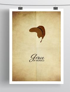 Minimalist film poster GRACE OF MONACO by Zoki Cardula, via Behance