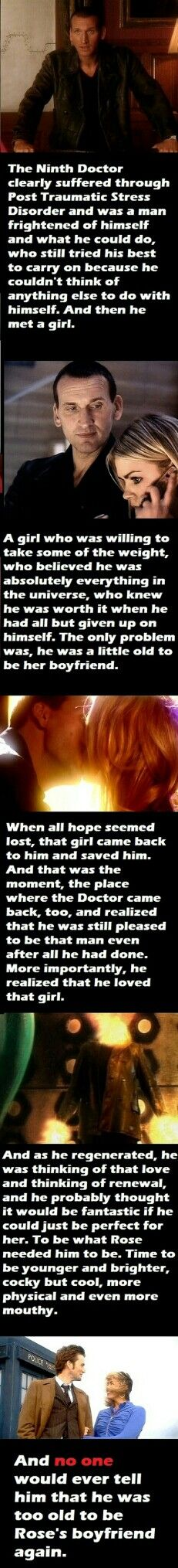 """*Tears streaming down my face* He truly, truly loved her. With both his hearts :,,,,,,( """"Rose Tyler... I-"""""""