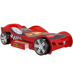 Turbo GT Red Racer with Drawer  up to 60% OFF RRP  Next Day - Select Day Delivery