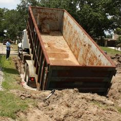 An innovative project for the budget-conscious homeowner transforms a lowly Dumpster into a gorgeous swimming pool.